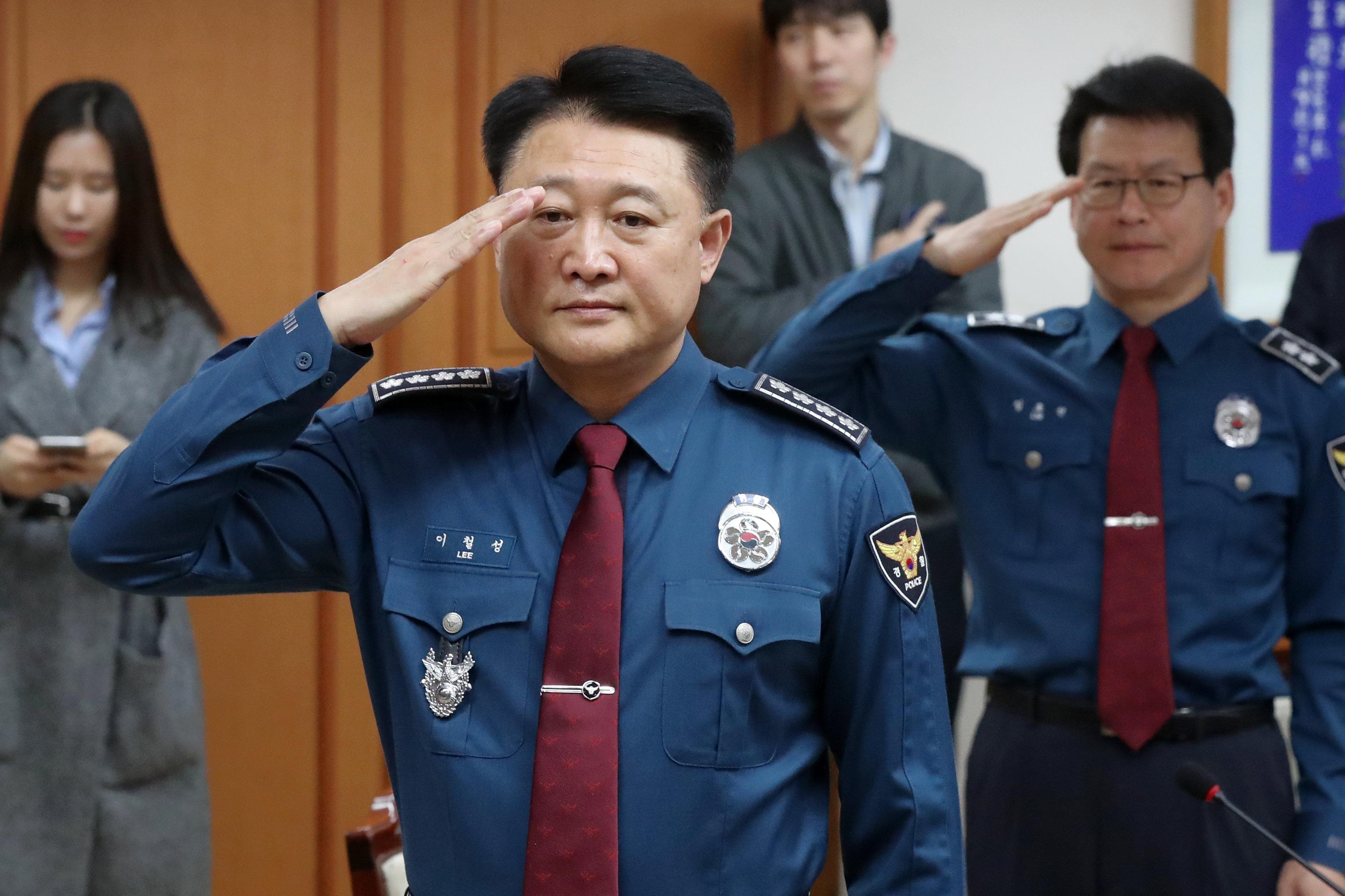 이철성 경찰청장이 '경찰 미친개' 발언에 심경을