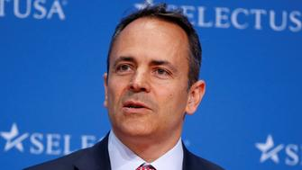 Governor of Kentucky Matt Bevin speaks at 2017 SelectUSA Investment Summit in Oxon Hill, Maryland, U.S., June 19, 2017.   REUTERS/Joshua Roberts