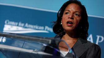 Former National Security Advisor Susan Rice speaks at the Center for American Progress Ideas Conference at the Four Seasons Hotel in Washington, D.C., U.S. May 16, 2017.  REUTERS/Aaron P. Bernstein