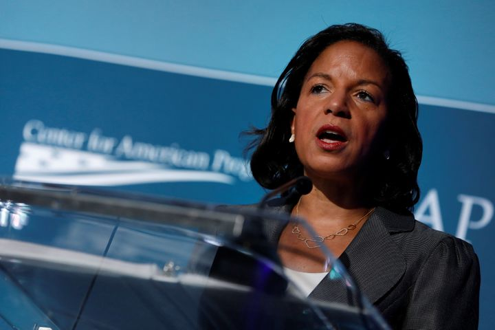 Former National Security Advisor Susan Rice speaks at the Center for American Progress Ideas Conference in 2017.