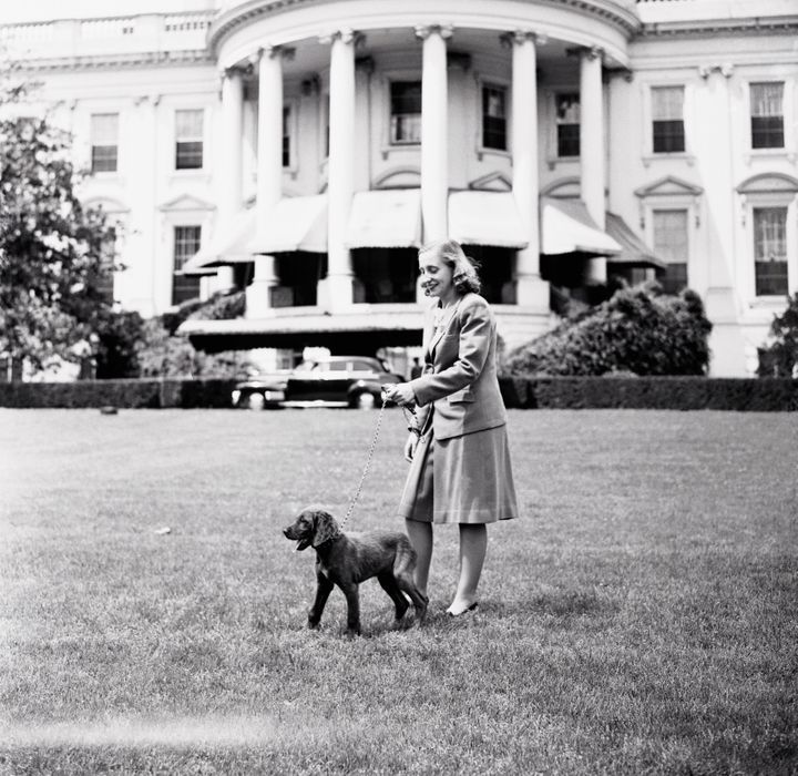 Margaret at the White House with Mike.