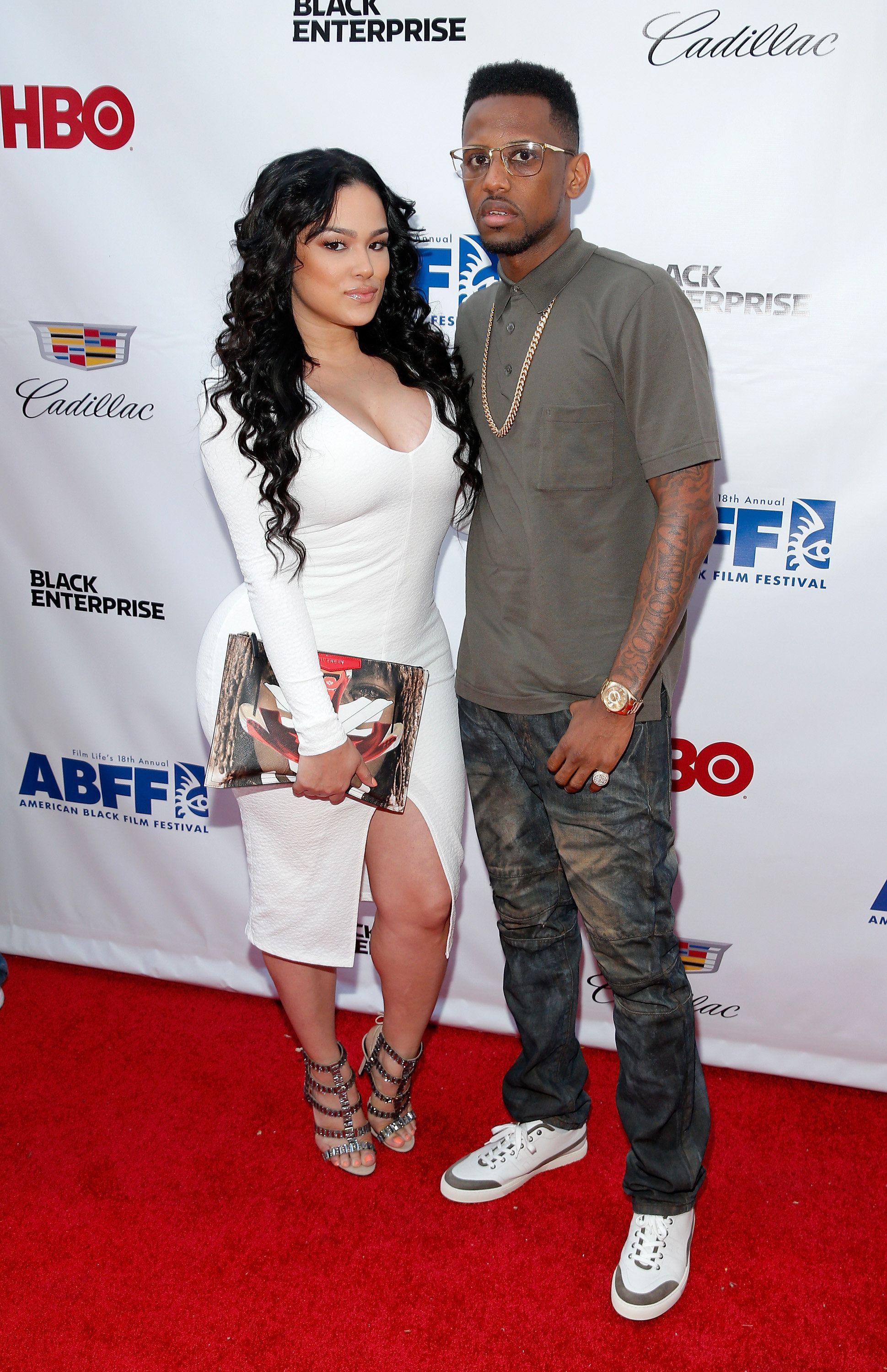 NEW YORK, NY - JUNE 19:  Emily B. and rapper Fabolous attend the 'Think Like A Man Too' premiere during the 2014 American Black Film Festival at SVA Theater on June 19, 2014 in New York City.  (Photo by J. Countess/WireImage)