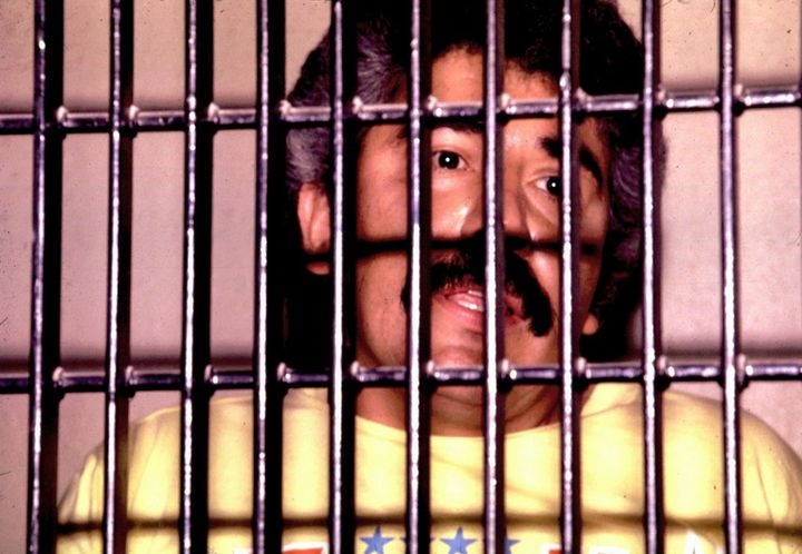 Mexican drug lord Rafael Caro Quintero is shown behind bars in an undated file photo.