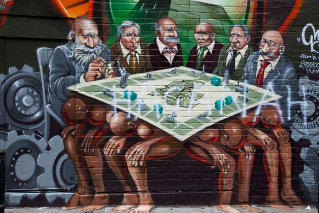 The offensive mural in London's East End in 2012.
