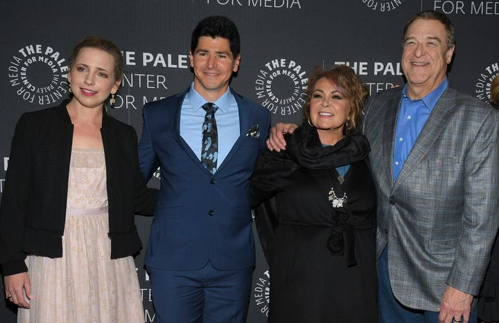 "Cast members of the revived ""Roseanne"" have reason to be happy."