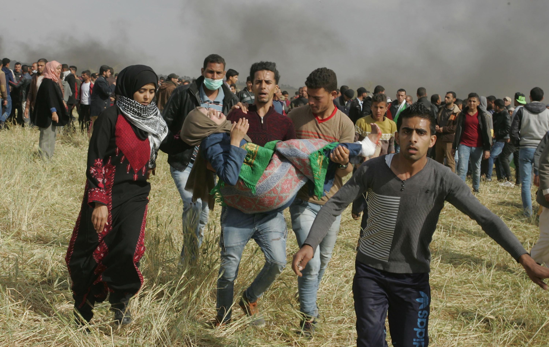 Un carnage à Gaza au premier jour de la grande marche du