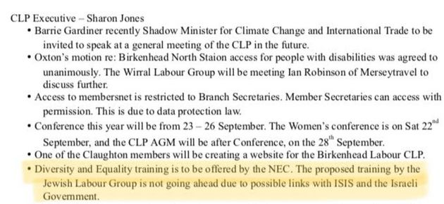 A 'report back' of the Oxton branch of Birkenhead CLP