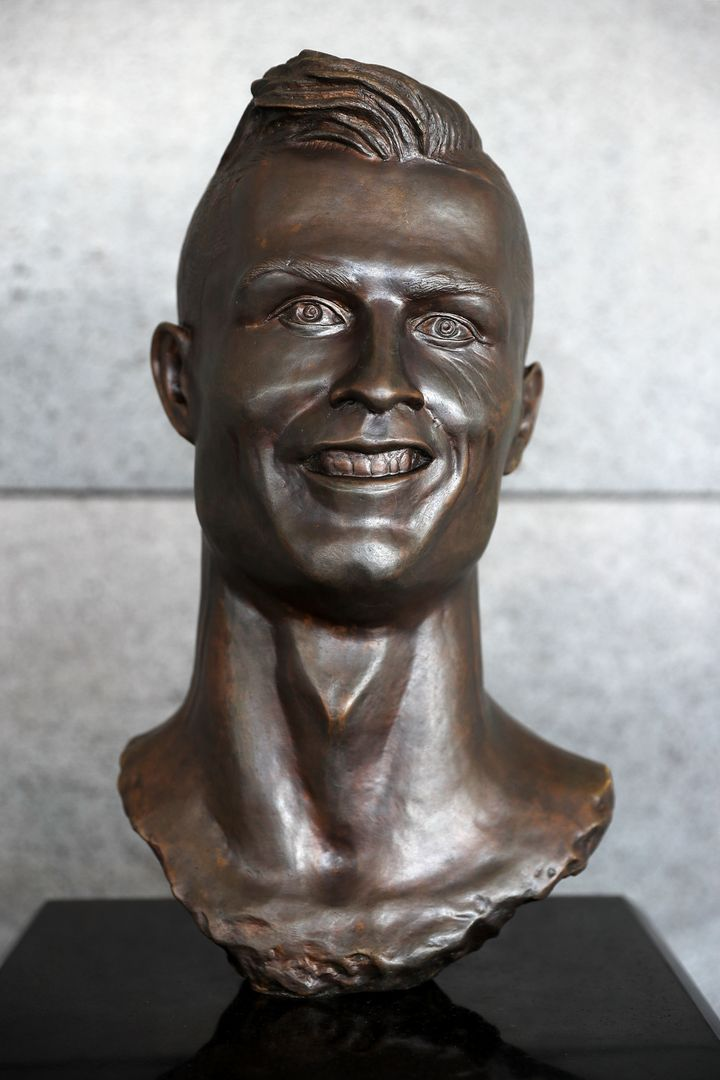 The statue of Cristiano Ronaldo that was unveiled last year.
