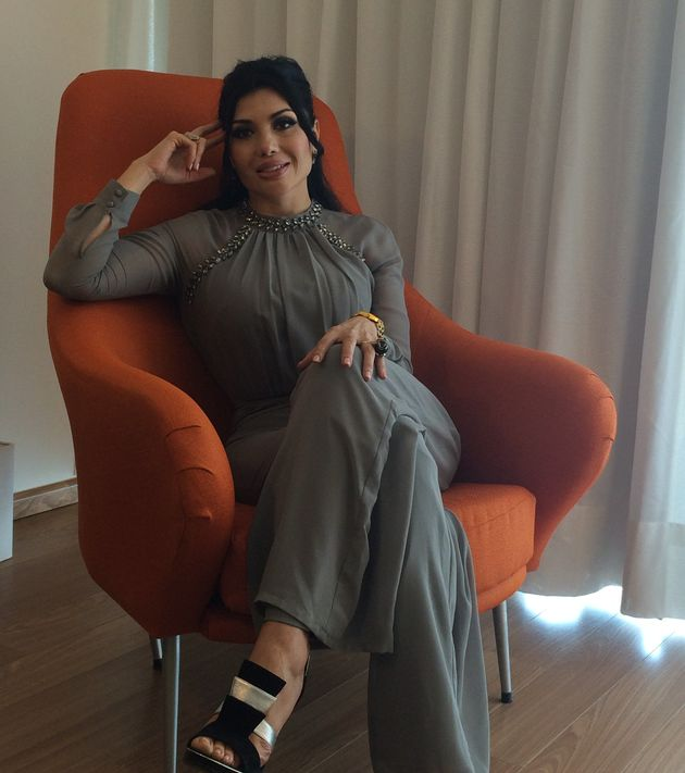 Diana Espinoza, Rafael Caro Quintero's wife, is seen in July 2016 during an interview inCuliacán,