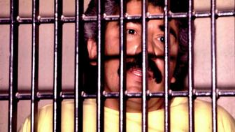UNDATED FILE PHOTO - Mexican drug lord Rafael Caro Quintero is shown behind bars in this undated file photo. Quintero won an initial appeal against his conviction and 40 year sentence for the 1985 murder of U.S. DEA agent Enrique Camarena. Quintero will stay in jail while prosecutors appeal against the ruling.  MEXICO DRUGS