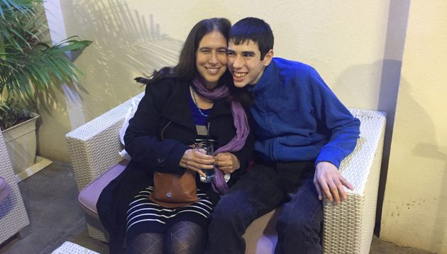 The author and her son, Danny, at a