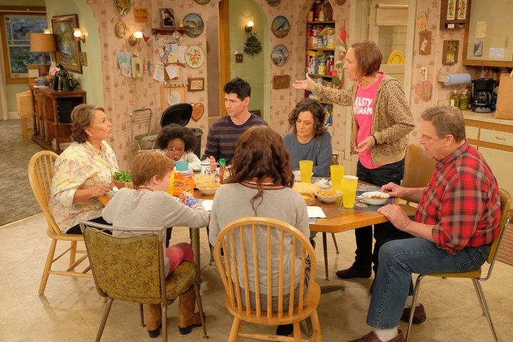 """A scene from the """"Roseanne"""" revival on ABC."""