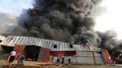 Yεμένη: Πυρκαγιά κατέστρεψε ολοσχερώς μεγάλες ποσότητες ανθρωπιστικής