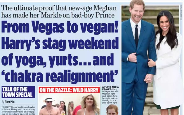 Mail on Sunday went with a royal
