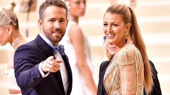 NEW YORK, NY - MAY 01:  Ryan Reynolds and Blake Lively attend the 'Rei Kawakubo/Comme des Garcons: Art Of The In-Between' Costume Institute Gala at Metropolitan Museum of Art on May 1, 2017 in New York City.  (Photo by James Devaney/GC Images,)