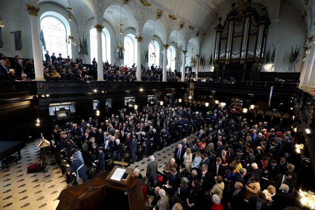 The Founders' Day Service, to commemorate the centenary of the formation of the Royal Air Force at St Clement Danes Church, in London.