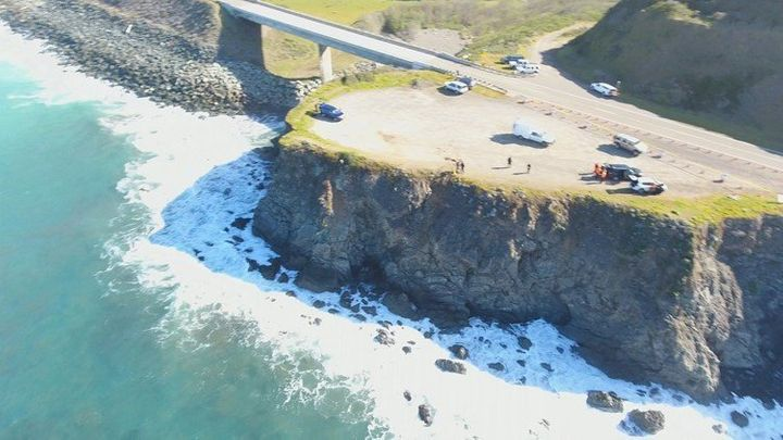 This is the spot on the Mendocino coast where the Harts' SUV plunged into the ocean.