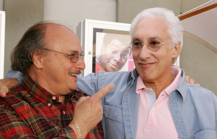 """Actor Dennis Franz, left, became the unlikely star ofBochco's hit crime drama """"NYPD Blue."""""""