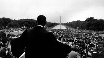 Reverend Martin Luther King Jr. speaking at 'Prayer Pilgramage for Freedom' at Lincoln Memorial.  (Photo by Paul Schutzer/The LIFE Picture Collection/Getty Images)