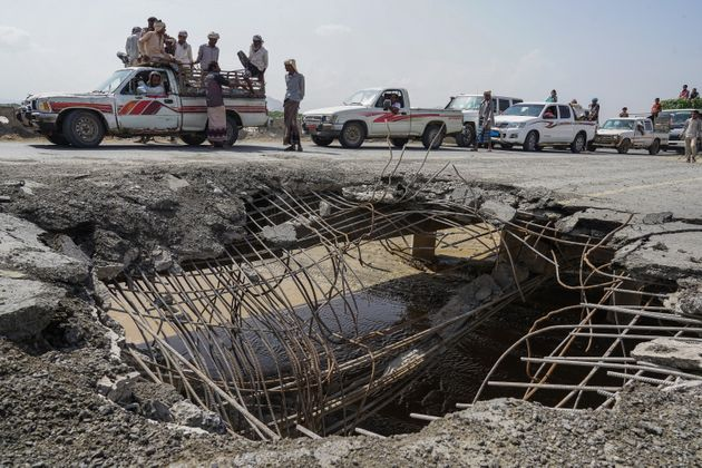 Image d'archives: Hodeida, après un raid aérien le 6 mai