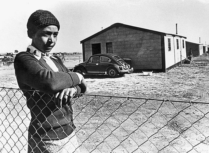 Winnie Madikizela-Mandela is seen during her exile in Brandfort, South Africa, in 1977.