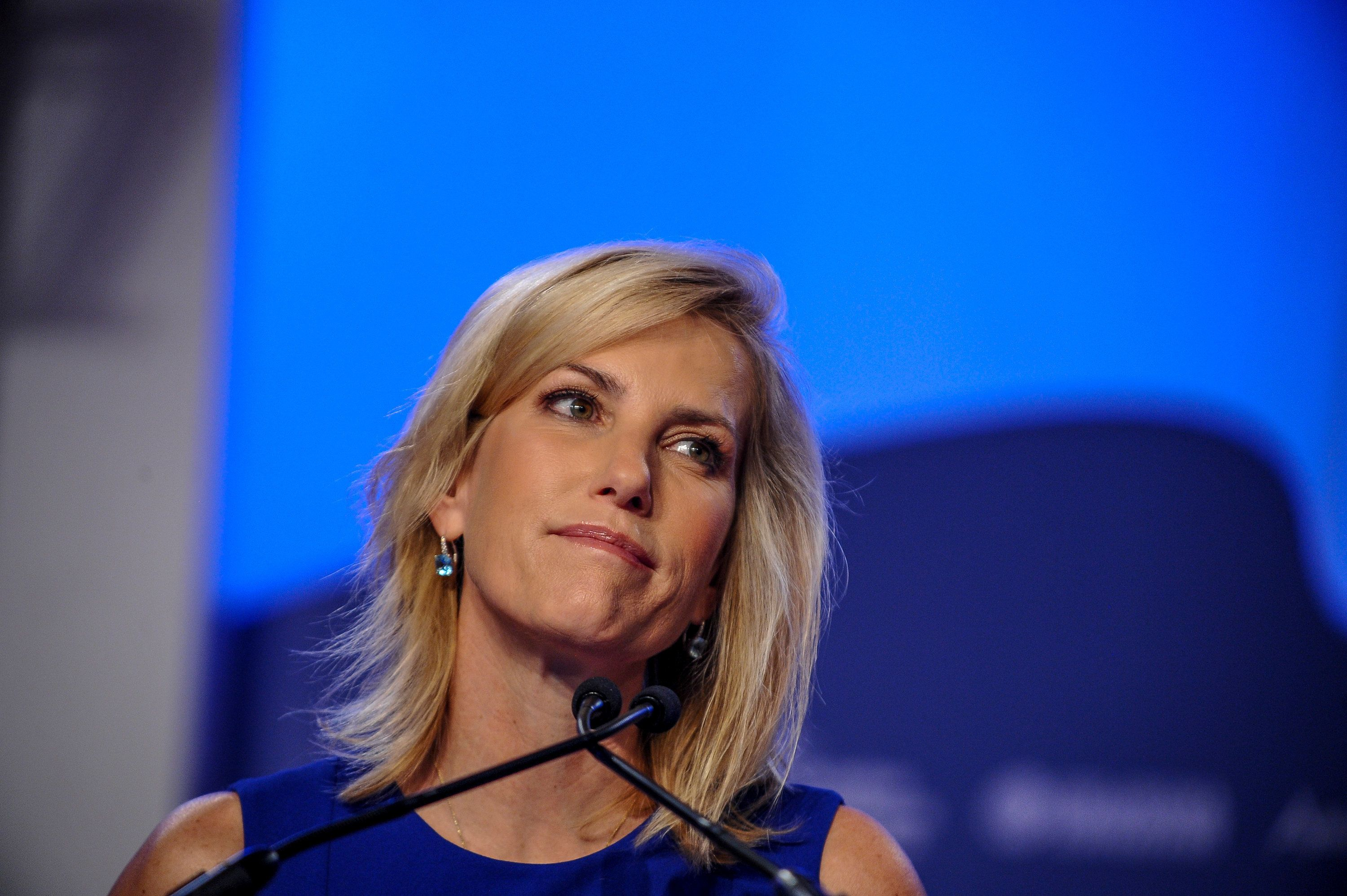 Radio host Laura Ingraham delivers remarks during the Value Voters Summit at the Omni Shoreham Hotel in Washington, U.S., October 14, 2017. REUTERS/Mary F. Calvert