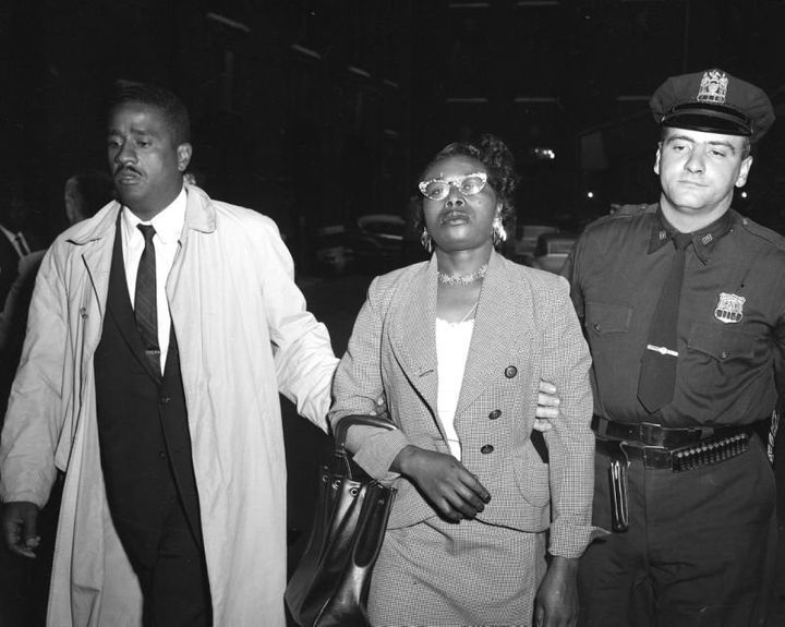 Izola Ware Curry is arrested for stabbing Martin Luther King Jr. with a letter opener at a department store in Harlem while h