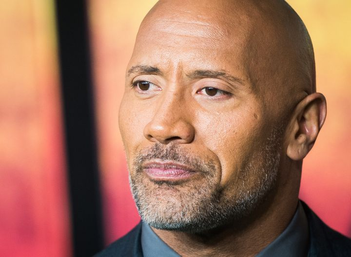 Dwayne Johnson attends a movie premiere on Dec. 7, 2017, in London.