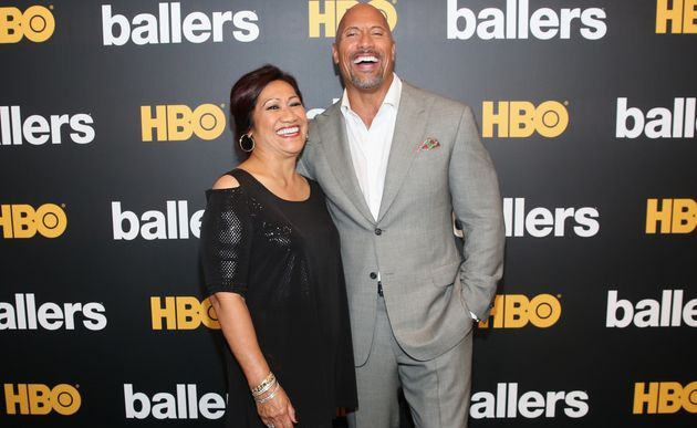 Johnson and his mother, Ata, attend the HBO