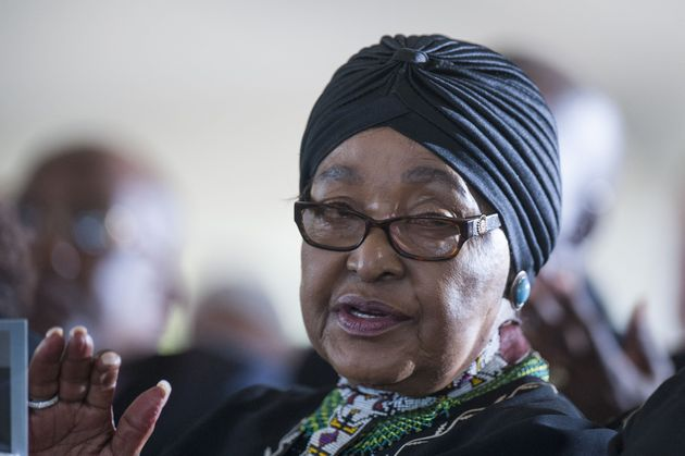 "Madikizela-Mandela, seen in early 2017, was memorialized on Monday as a leader and a survivor of ""the..."