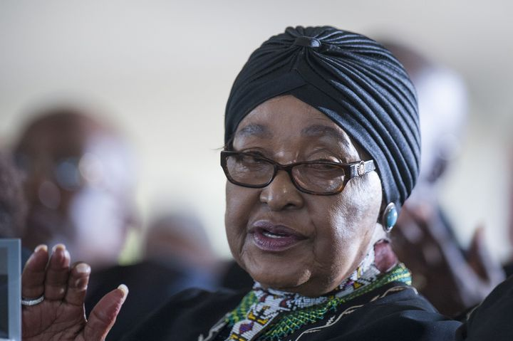 "Madikizela-Mandela, seen in early 2017, was memorialized on Monday as a leader and a survivor of ""the most brutal perio"