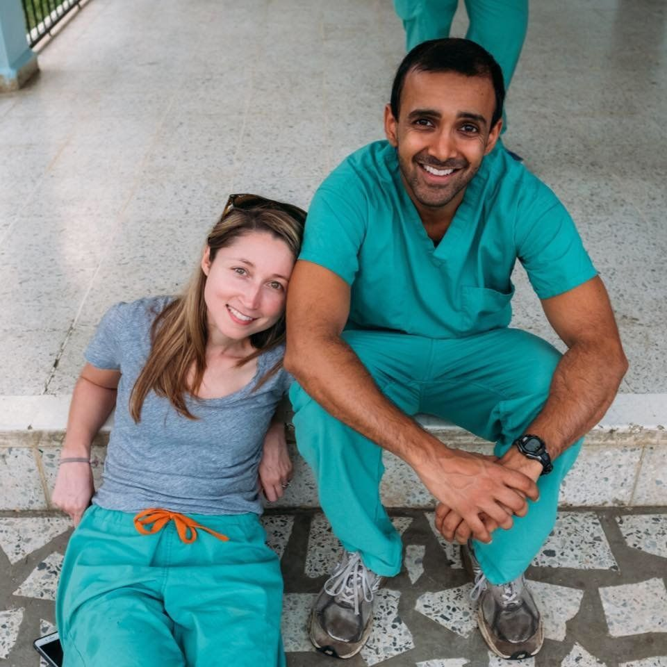 Julie Kennerly-Shah and Summit Shah.