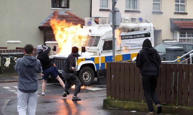 Petrol Bombs Thrown At Police During Dissident Republican Parade In Northern