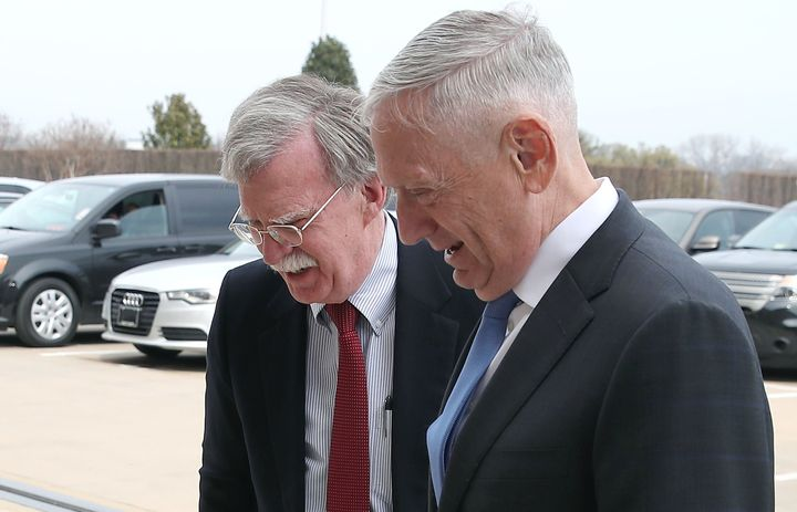 Trump recently chose former United Nations Ambassador John Bolton (left), as his new national security adviser. He'll wo
