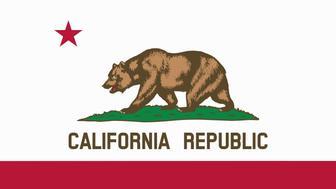flat californian state flag - usa