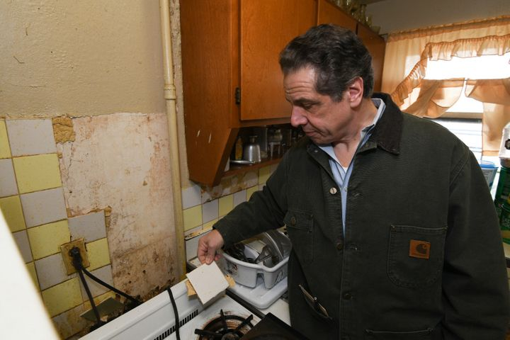 """Gov. Cuomo described the homes he saw on his tour as """"some of the worst living conditions I have ever witnessed."""""""