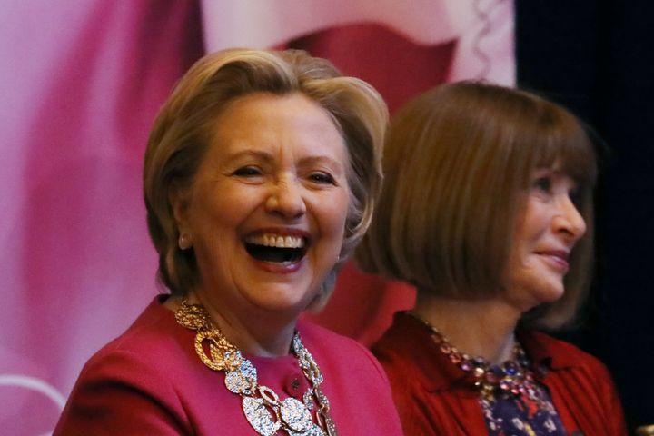 Με την Hillary Clinton.