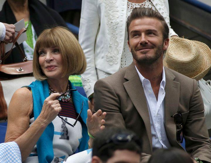 Παρέα με τον David Beckham.