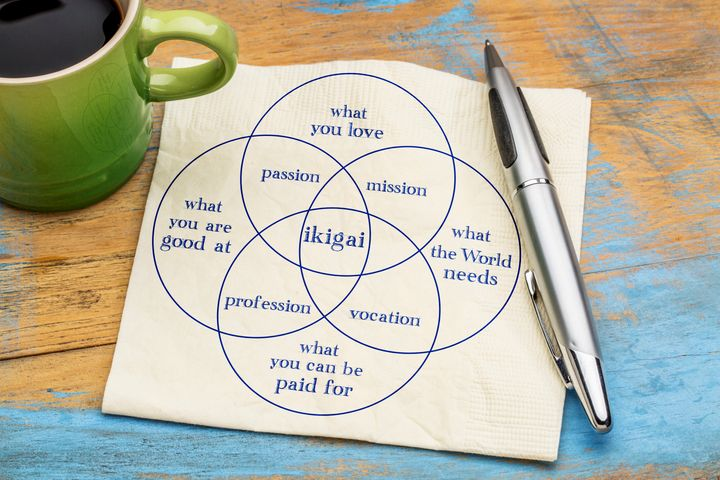 This venn diagram is one way of trying to pin down the definition of ikigai.