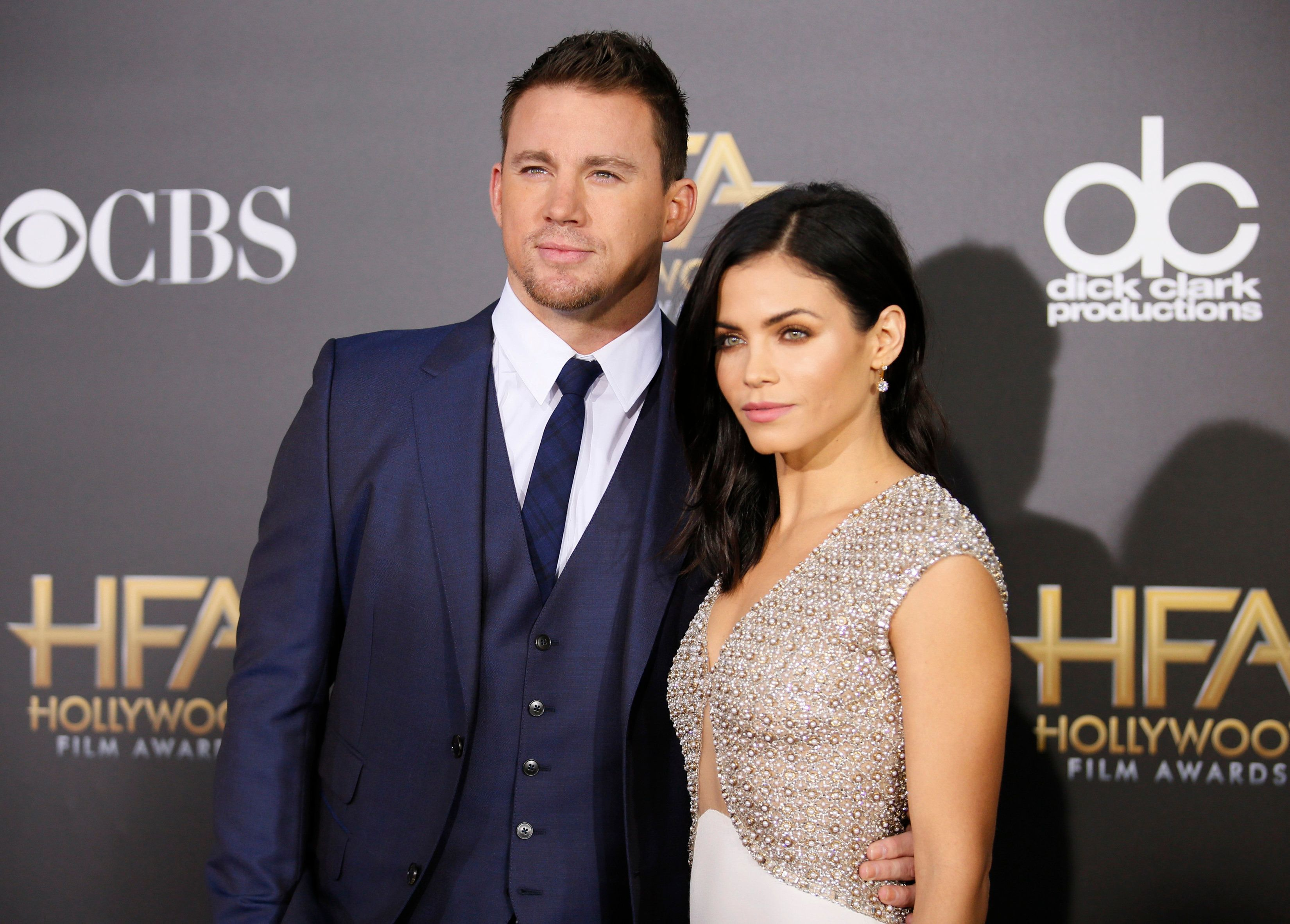 Actor Channing Tatum arrives with his wife Jenna at the Hollywood Film Awards in Hollywood, California November 14, 2014.    REUTERS/Danny Moloshok (UNITED STATES  - Tags: ENTERTAINMENT)