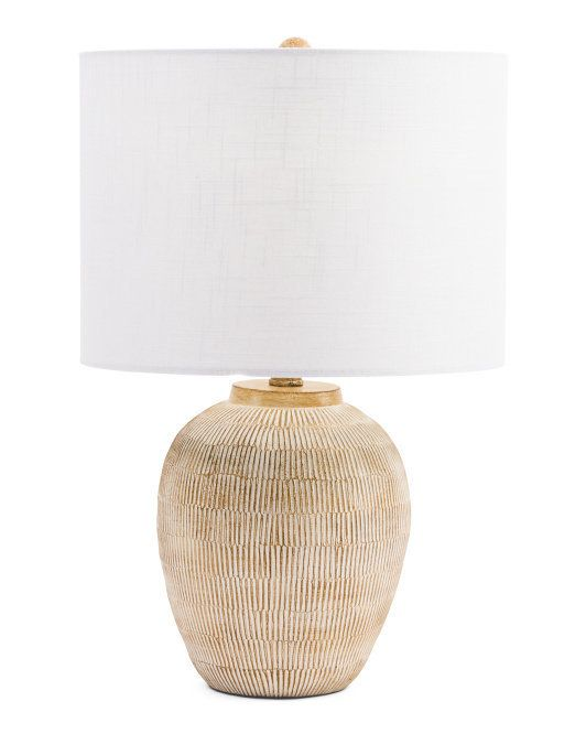 Superbe 22in Poly Ceramic Table Lamp