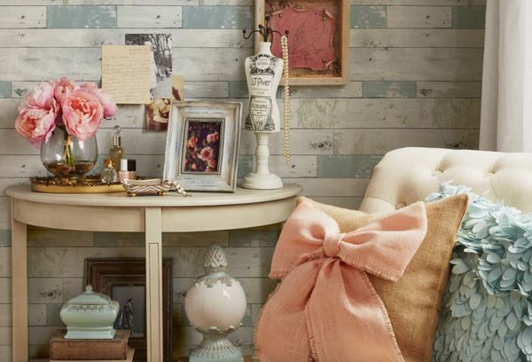 What we love about Wayfair is how inexpensive their removable wallpaper section is, yet how many beautiful selections and bra
