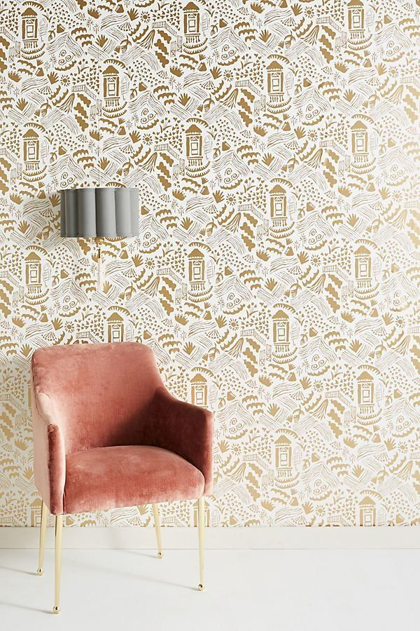 Anthropologie is definitely the pricier option, but their wallpaper designs are absolutely stunning if you really want to mak