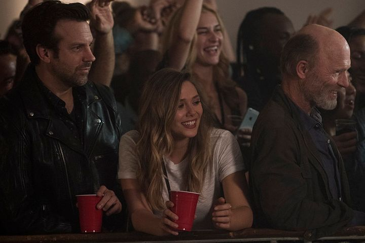 "Jason Sudeikis, Elizabeth Olsen and Ed Harris in ""Kodachrome"" on Netflix."
