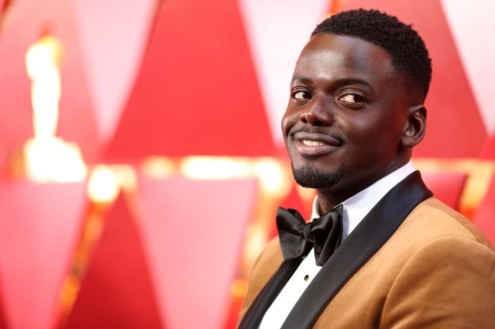 Actor Daniel Kaluuya, wearing Fenty Beauty foundation, attends the 90th Annual Academy Awards on March 4, 2018.