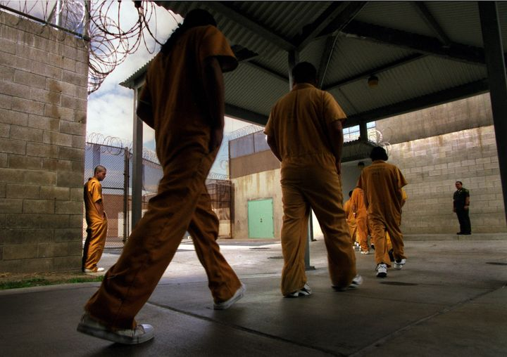 Inmates at the Theo Lacy men's jail in Orange, California.