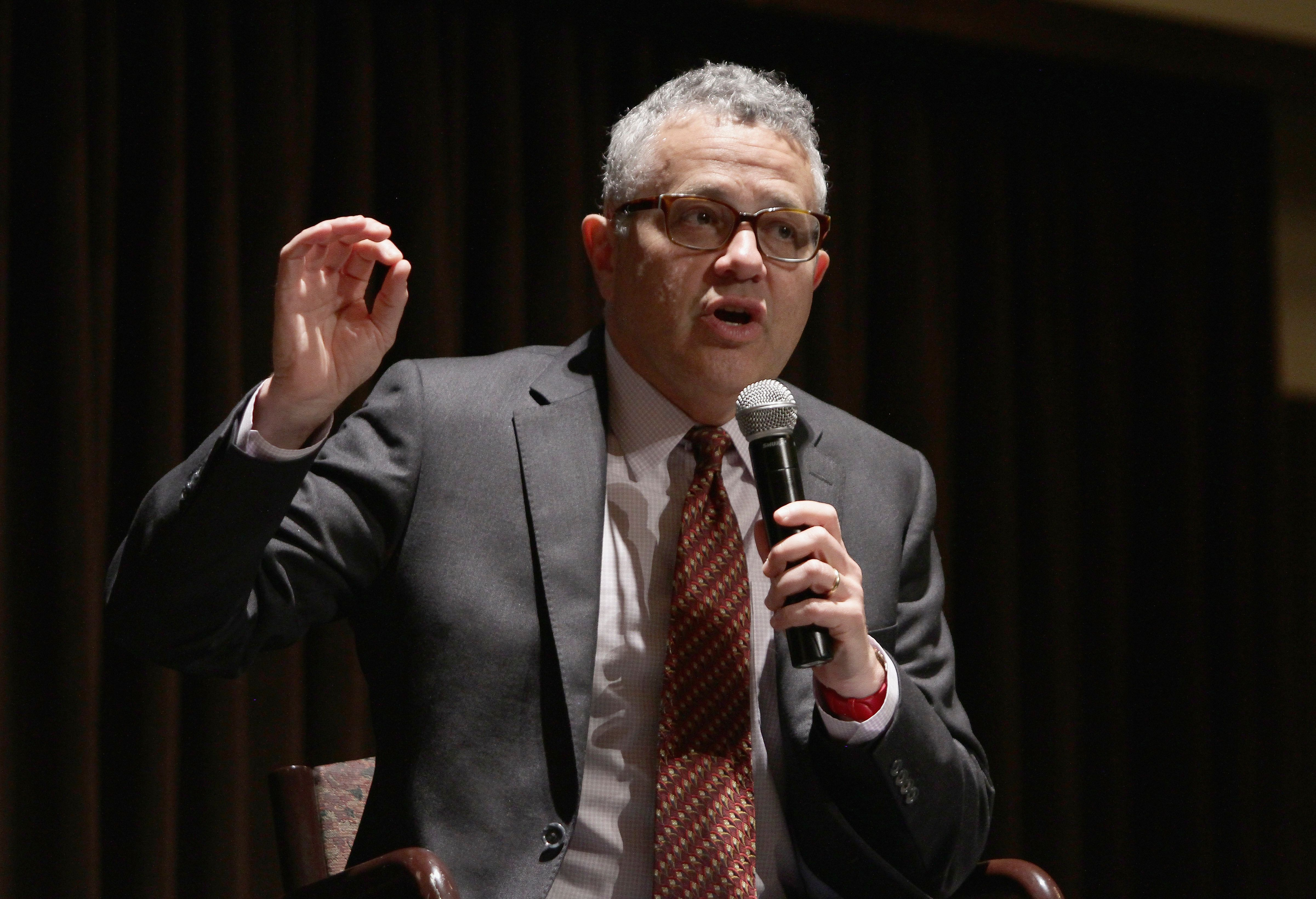PALM BEACH, FL - APRIL 22:  Author Jeffery Toobin attends book signing during the Palm Beach book Festival at Florida Atlantic College on April 21, 2017 in Palm Beach, Florida.  (Photo by Mychal Watts/Getty Images)