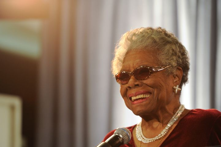 Google dedicates its homepage doodle to poet Maya Angelou.