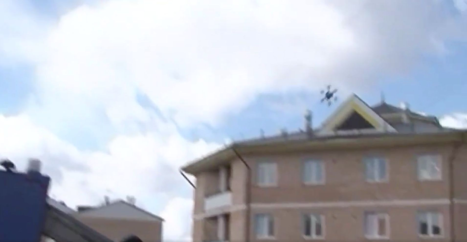 Watch Russia's Postal Drone Fly Spectacularly Into A Wall On Its First
