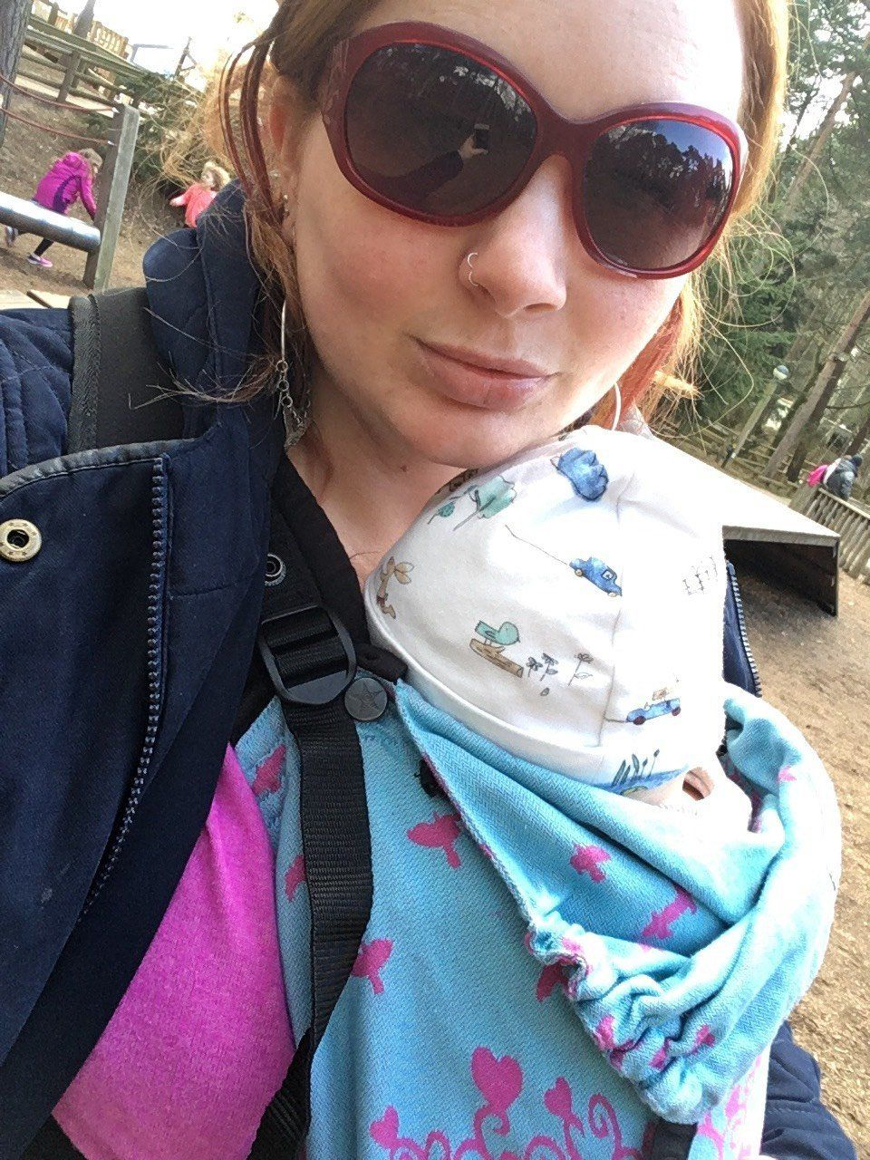 Zara Dick and her second son Leo.
